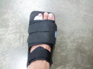 Deba Center's new footwear.... for four weeks.